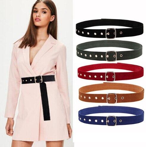 Hirigin Women Belt Fashion All-Matching Jeans Belts 6 Color Dress Adornment Waist Belt Vintage Belt Girl