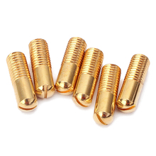 все цены на 6 Pcs Golden Humbucker Guitar Pickup Pole Screws Replacement Parts Accessories for Electric Guitar онлайн
