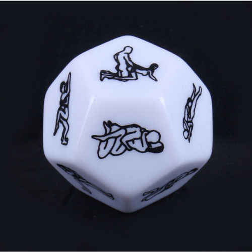 Mini Funny 12 Sides Sex Love Dice Game Toy For Bachelor Sex Party Adults Couple