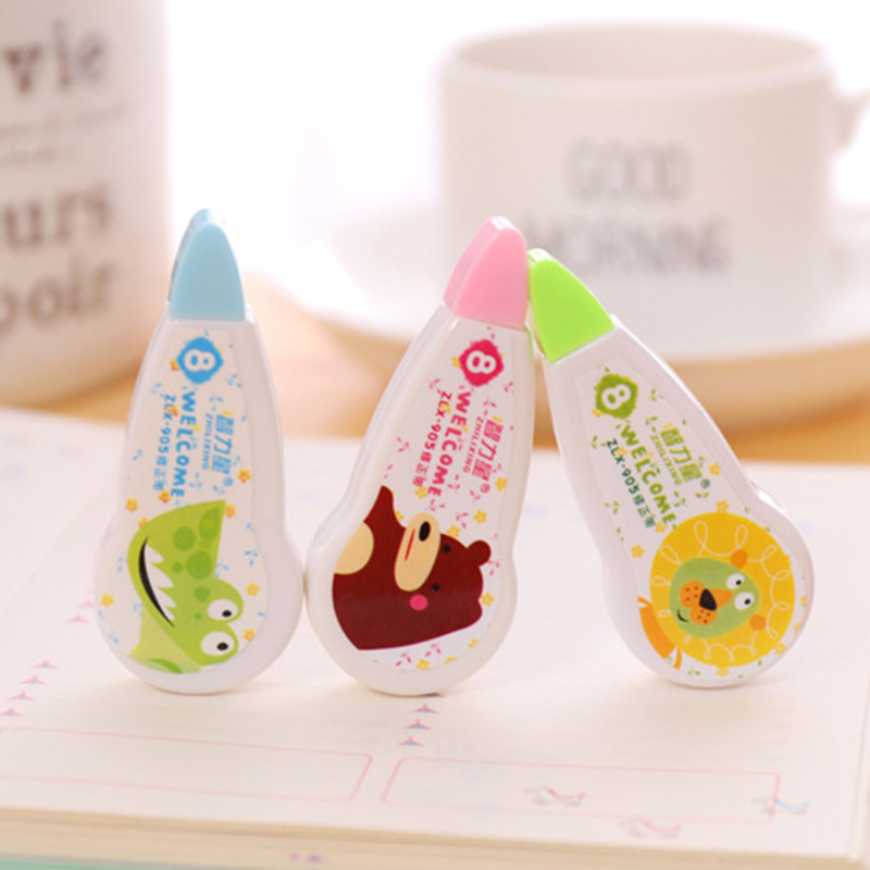 1PC 8m Correction Tapes Cartoon Animals Correction Tape For School Corrector Tools Girls Kids Gift Supplies Kawaii Stationery