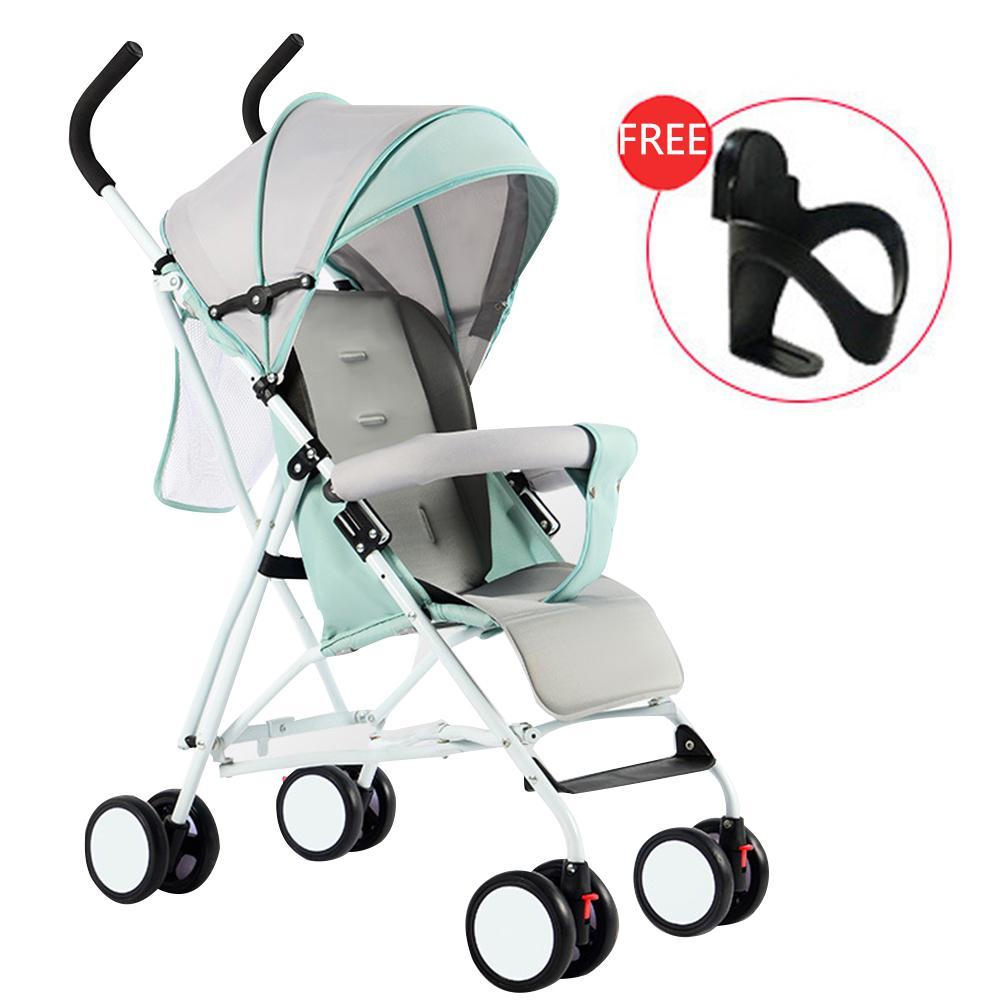 Kidlove poussette légère pliante anti-choc assise bébé avec 4 roues absorbeur pliant bébé chariot bébé couffin 0-3Y