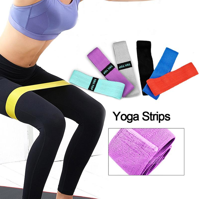 Non Slip Workout Bands: Cotton Anti Slip Hip Band Resistance Bands Booty Exercise