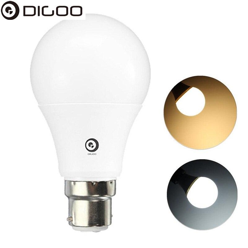 1X 5X 10X Digoo Lark Series Dimmable LED E27 B22 12W High PF Top Quality Globe Light Bulb AC220-240V - 1pc Warm White B22