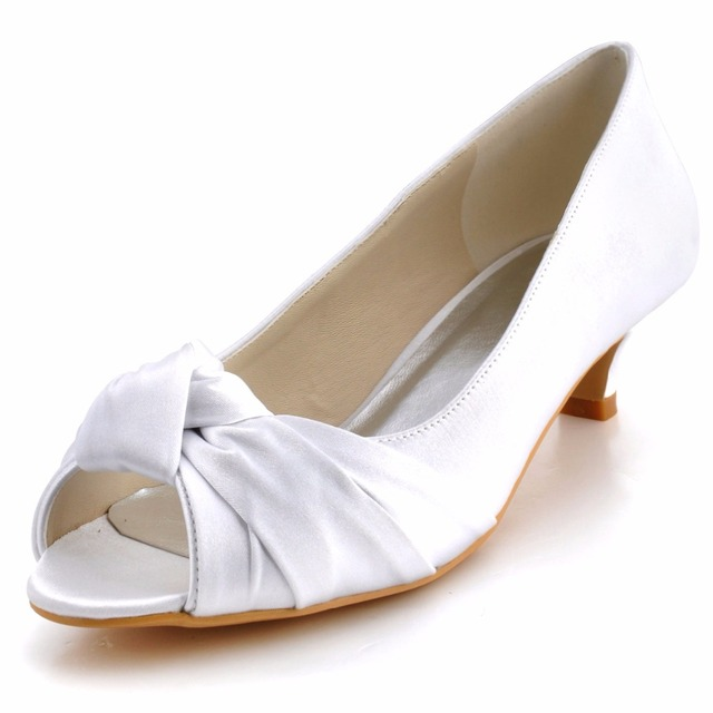 2017 Customized Wedding Shoes High Heels Pearl Flower Bridal Shoes Platform Pumps Closed Toes Bridesmaid High Heels, Bridal Shoes, Bridal, Women Peep