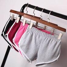 Summer Women Casual Shorts HOT Elastic High Waist Sports Simple Cotton
