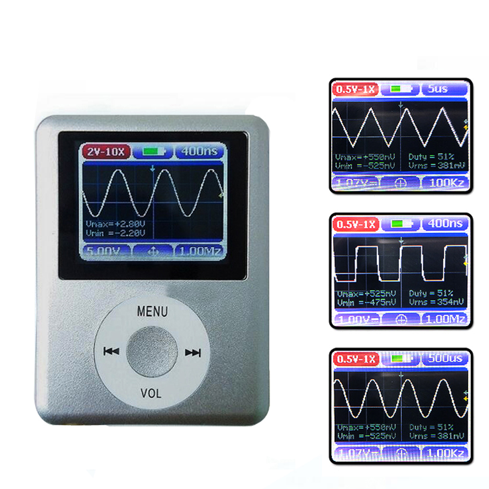 DSO168 1 8 Color Display Screen Handheld Portable Digital Mini Oscilloscope with 20MHz Bandwidth and 100M