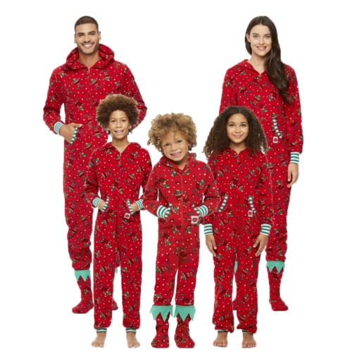 2018 Family Matching Christmas Pajamas Set Xmas Holiday Mom Dad Kid Print  Long Sleeve Bodysuit Romper Sleepwear Nightwear 598c44669