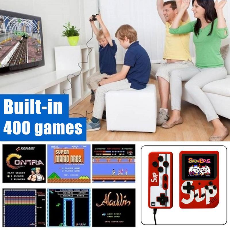 SUP Rétro console de jeu portable Lecteur 400 Dans 1 Rétro Double Enfants Mini Arcade Gamebox