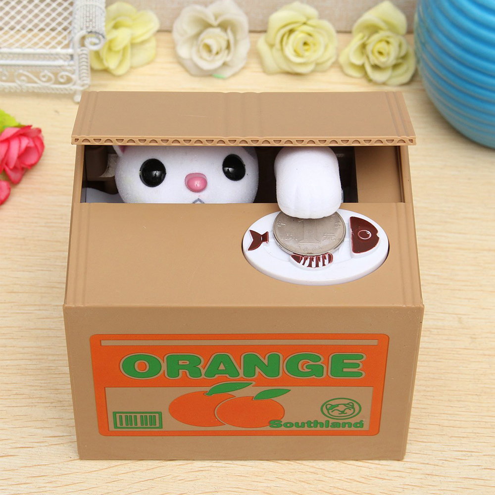 Image 2 - Cat Money Bank Panda Money Boxes Toy Piggy Banks Gift Kids Money Boxes Automatic Coin Piggy Bank Money Saving Box Gift for Child-in Money Boxes from Home & Garden