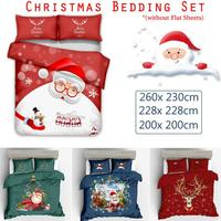Luxury Christmas Home Textile Polyester 3D Happy Christmas Santa Cluse Elk Bedding Set 3D Quilt Duvet Cover 3pcs Sets Home Decor
