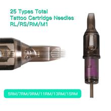 Newest 10pcs Disposable Sterilized Tattoo Cartridge Needles For Semi-Permanent Makeup Machine 7RM/9RM/11RM/13RM/15RM-0-10