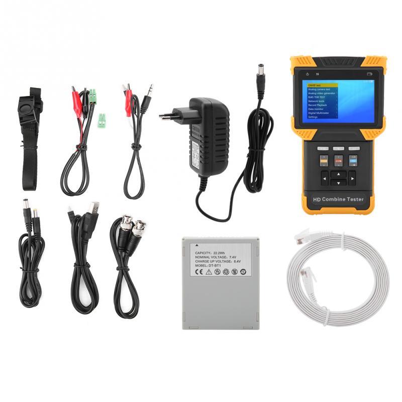 1 Set DT T60 CCTV Tester Professional 1080P IP Analog Camera Testing HD Combine Tester AC100