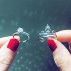 2-in-1 Crown ring se...