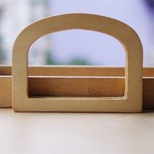 Pièces de sac en bois de Type D, poignée 16.4x12.5cm, 2 pièces, poignée de sac en bois, cadre de sac à main, Sangle en dentelle, vente en gros, 2019