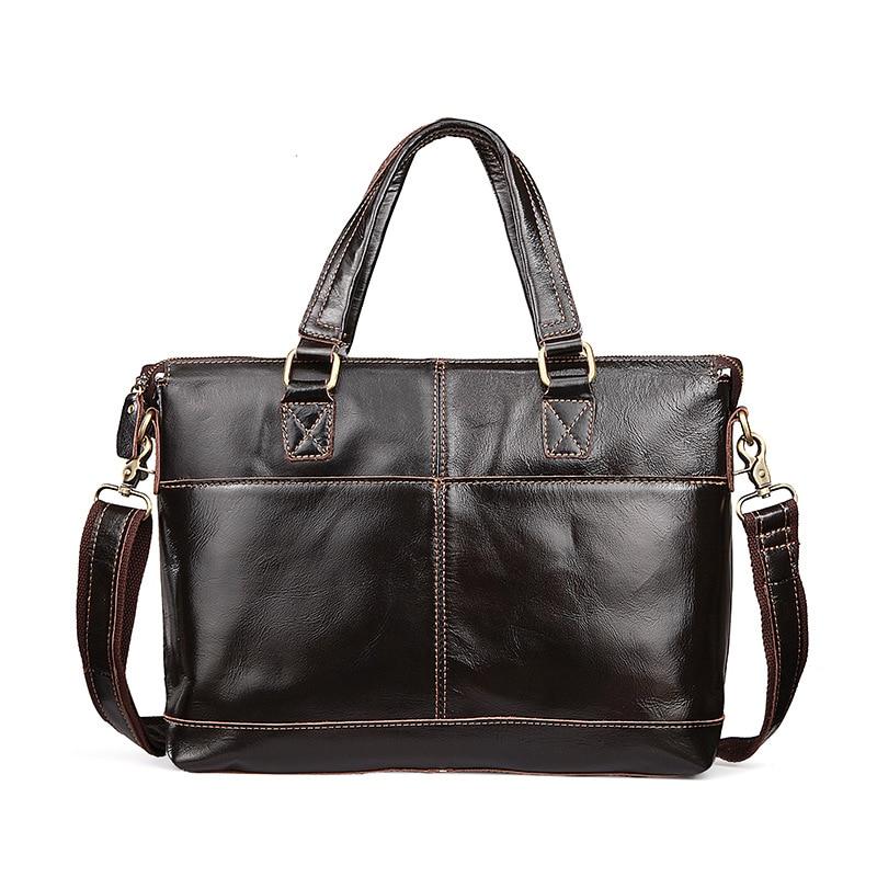 Sacs à main en cuir véritable femmes sac d'affaires en cuir de vachette sac fourre-tout en cuir de vache sac à bandoulière avec poche Bolsas