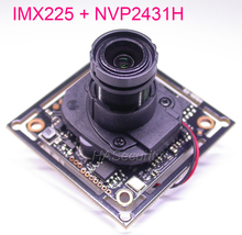 "AHD M (720 P)/CVBS 1/3 ""Exmor IMX225 CMOS + NVP2431 كاميرا تلفزيونات الدوائر المغلقة PCB لوحة تركيبية + كابل OSD + عدسة M12 + IRC (دعم UTC)"
