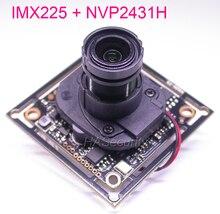 """AHD M (720 P) /Cvbs 1/3 """"IMX225 Exmor Cmos + NVP2431 Cctv Della Macchina Fotografica Modulo Pcb Board + Cavo Osd + M12 Lente + Irc (Utc Supporto)"""