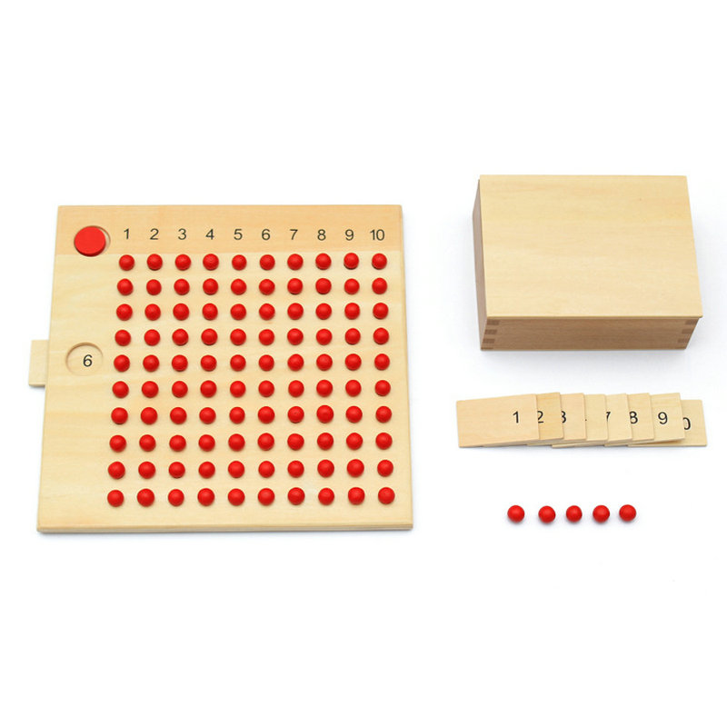 Kids wooden Montessori teaching multiplication division board children professional Assist Baby learning Mathematical operations in Math Toys from Toys Hobbies