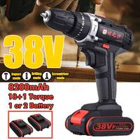 38V 8200mAh Rechargeable Electric Screwdriver Household Drill Wrench Driver Wireless Cordless Impact Drill DIY Home Power Tool