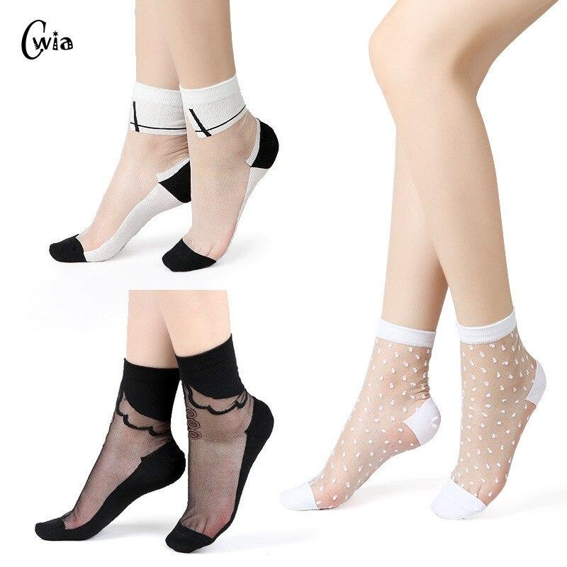 Sexy Fishnet Women Lace Ruffle Soft Comfy Sheer Silk Elastic Mesh Knit Frill Trim Transparent Ankle Funny Socks 1pair=2pcs 2305