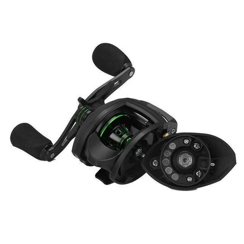 17+1 Bb Bait Casting Reel With Magnetic Brake 8.1:1 Gear Ratio Freshwater Saltwater Big Fish Carp Fishing Reel Pesca