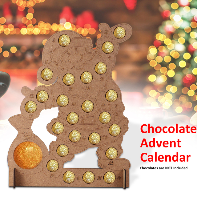 Chocolate Advent Calendar 2019.Us 21 82 2019 Advent Calendars Christmas Tree Ornaments New Year Gift Cookies Chocolate Stand Wedding Display Stand Decoration For Home In Advent
