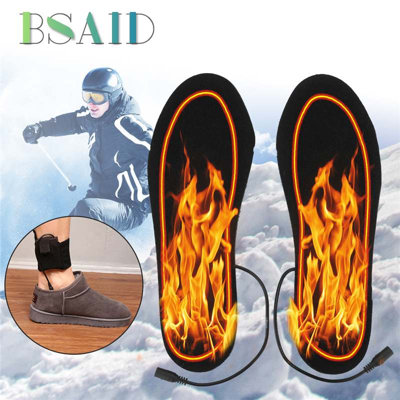 BSAID Heated Insoles Set 4.5V USB Heated Shoe Insole Electric Battery Powered Insoles For Shoes Boots Heater Warm Foot Pads New