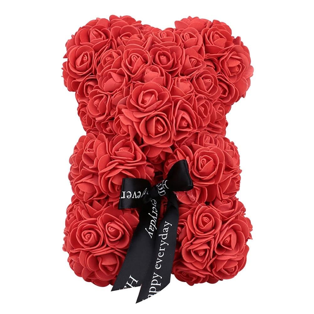 23 Cm Schaum Bär Von Rosen Bär Rose Blume Künstliche Neue Jahr Geschenke Für Frauen Valentines Geschenk