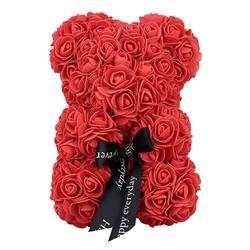 23 см пенка медведь розы медведь Роза цветок искусственный Новый Год Подарки для женщин подарок на день Святого Валентина