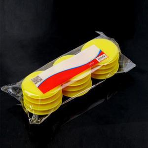 Image 2 - 12 sztuk samochód woskowany lakier gąbka piankowa ręcznie miękki wosk żółta podkładka z gąbki/bufor do detale samochodów opieki narzędzie czyszczące