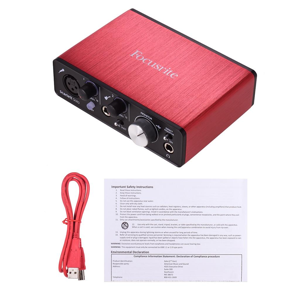 buy focusrite scarlett solo 2nd generation usb audio interface sound card 24bit. Black Bedroom Furniture Sets. Home Design Ideas