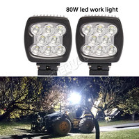 Pair 80W LED work light 12V 24V led driving lamp spot flood beam for 4x4 truck offroad motorcycle ATV SUV automotive car
