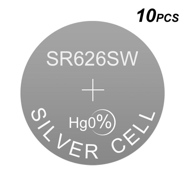 Alkaline Button Silver Cell Watch Battery LR626 1.5V 0Hg LR Coin SR626SW Replaces AG4 177 377A D377 377 377S GP377 D376 376 LR66