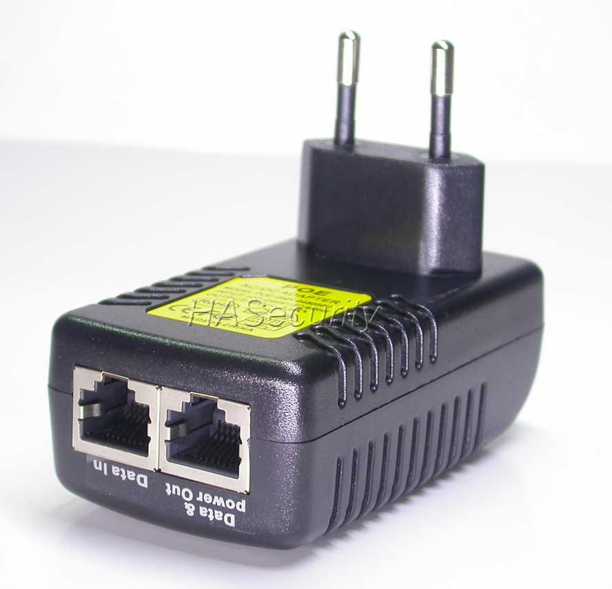 POE güç enjektör IP ağ kamerası giriş AC100-240V/çıkış DC48V Orta Açıklıklı 4/5 (+) 7/8 (-) 0.5A (max)
