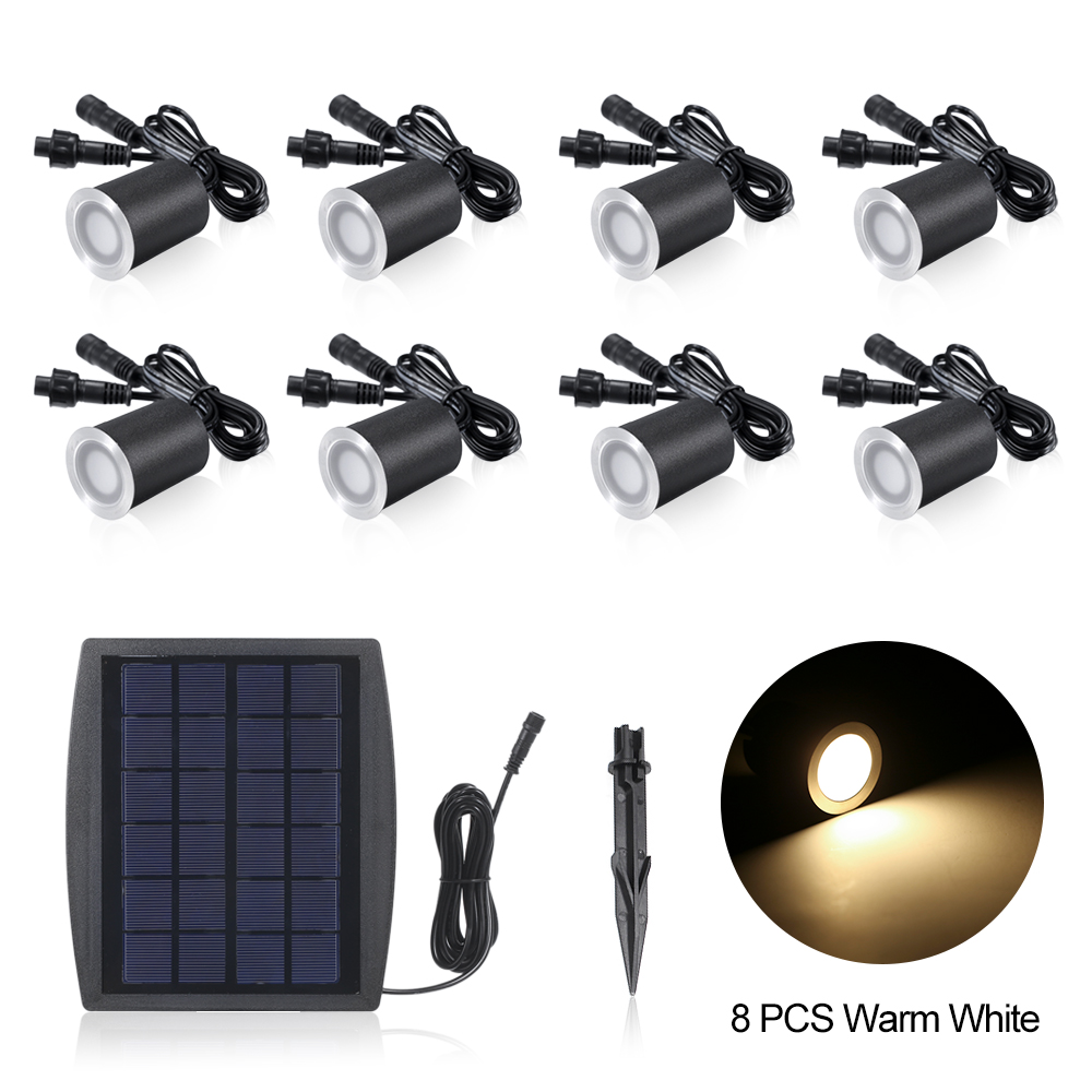 Underground Lamp Waterproof Solar Garden Light 0 2W 3 2V 6 8PCS Solar Deck Lights Sensing Garden Path LED Floor Light