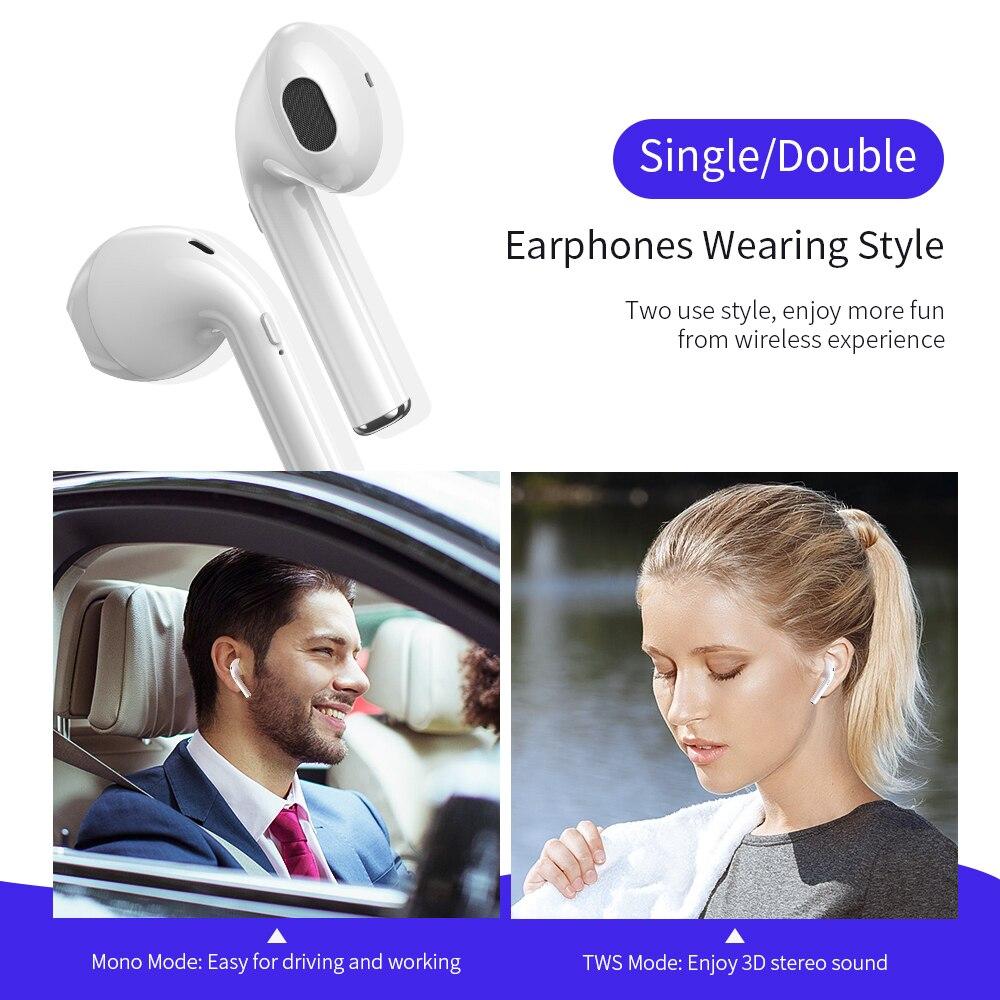 CASEIER New i10 TWS Bluetooth Earphone Music Earbuds Bluetooth 5 0 Wireless Earphone HIFI Call Microphone For all Mobile Phone in Bluetooth Earphones Headphones from Consumer Electronics
