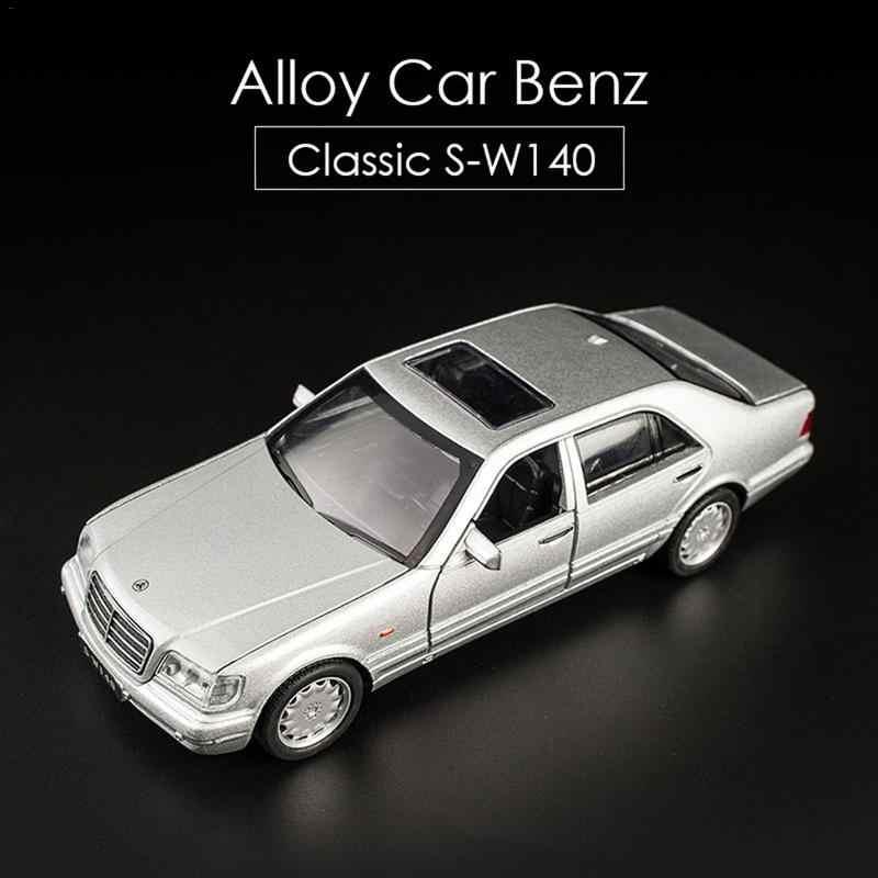1:32 Mercedes-Benz S-W140 Alloy Model Car sound light Pull-back Toy Car