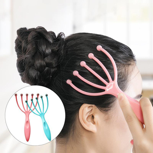 Manual five-jaw head massager
