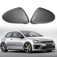 1 Pair Carbon Fiber Side Mirror Covers Rearview Door Wing Mirror Caps for Golf MK7 R GTI GTD Hatchback/Estate 2014 2018