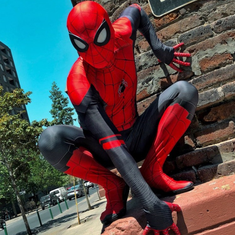 Adult Kids children boy Spider Man Far From Home Peter Parker Cosplay Costume Zentai Spiderman Superhero Bodysuit Suit Jumpsuits
