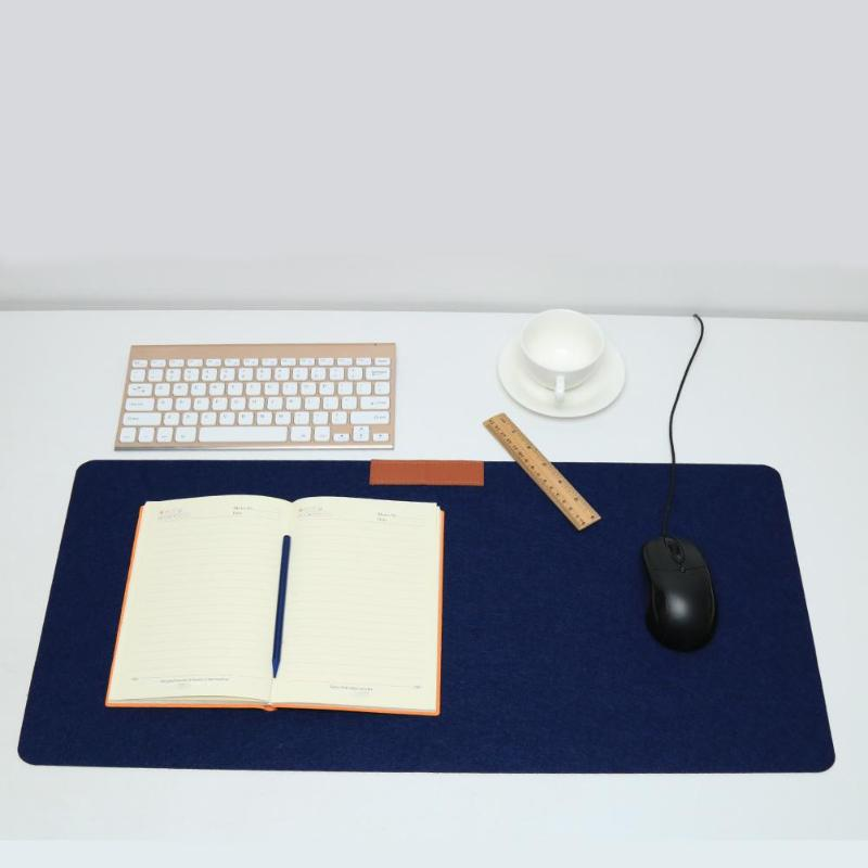 Felt Office Computer Desk Mat Modern Table Keyboard Mouse Pad 700 330 2 mm Wool Laptop Cushion Desk Mice Large Pure Color Mat in Mouse Pads from Computer Office