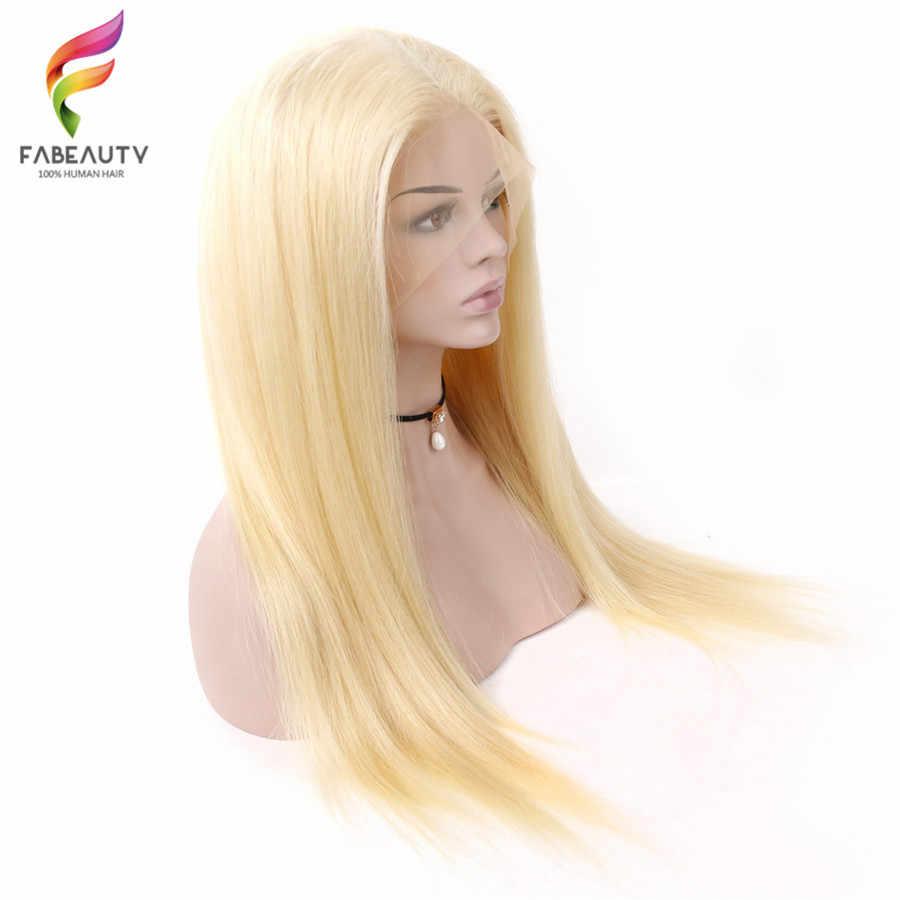 Tutkalsız 613 Sarışın Dantel Peruk PrePlucked Perulu Düz Dantel Ön İnsan saçı peruk Ile Bebek Saç Bal Sarışın Remy Peruk 26 inç