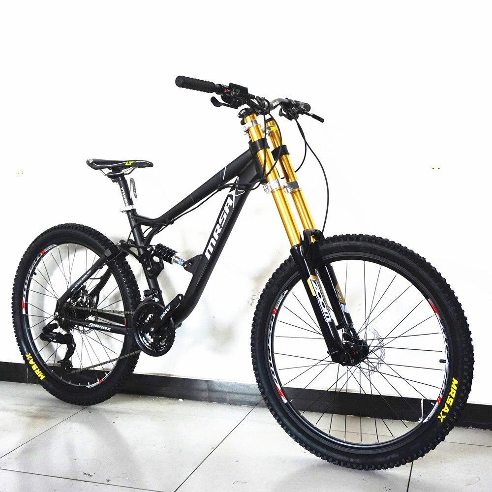 Nouvelle marque descente VTT en alliage d'aluminium cadre huile frein à disque souple queue Bicicleta Sports de plein air vtt vélo
