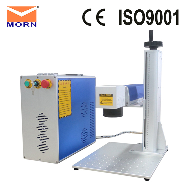 Education industrial fiber laser marking machine for mark on ceramics, stainless steel, plastic and so on