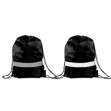 Drawstring Backpack Bags — 10 Pack Reflective Sack Backpack Sport Gym Cinch Bag Travel Fabric Drawstring Backpacks