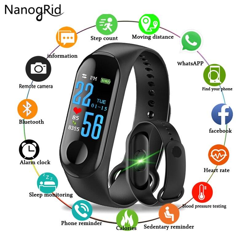 2019 Neuestes Design Fitness Armband Farbe Bildschirm Smart Uhr Sport Ip68 Wasserdichte Blutdruck Sauerstoff Aktivität Tracker Für Männer Frauen Uhren äRger LöSchen Und Durst LöSchen