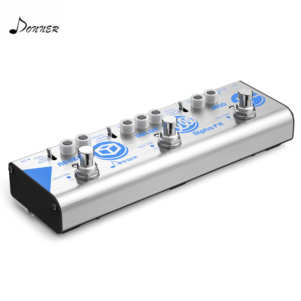 Donner Multi Guitar Effects Chain Alpha FX Guitar Effect Pedal Mini Modulation Delay And Reverb Effects Guitar Accessories New