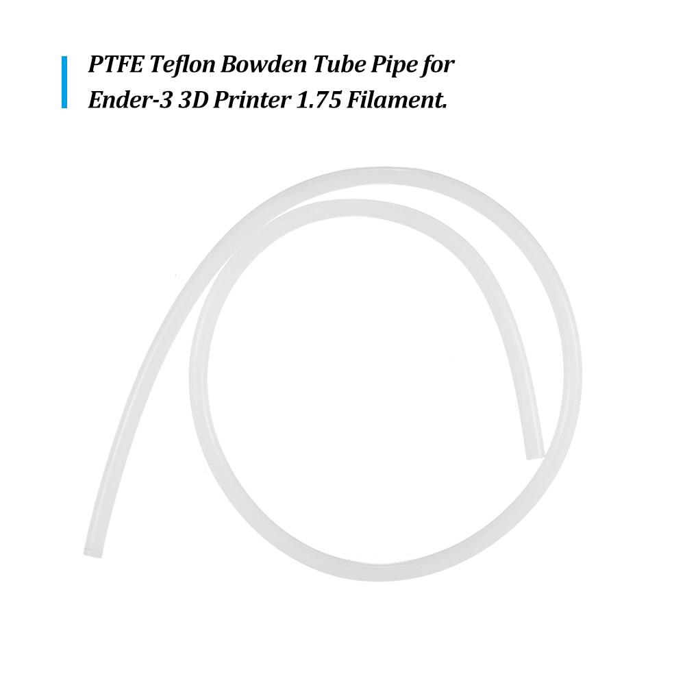 PTFE Teflon Bowden Tube 2mm ID 4mm OD for Creality Ender-3 1.75mm 3D Printer