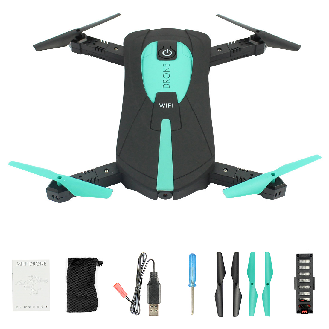 JY018 ELFIE WiFi FPV Quadcopter Mini Pieghevole Selfie Drone RC Drone con 0.3MP/2MP Macchina Fotografica HD FPV RC Elicotteri