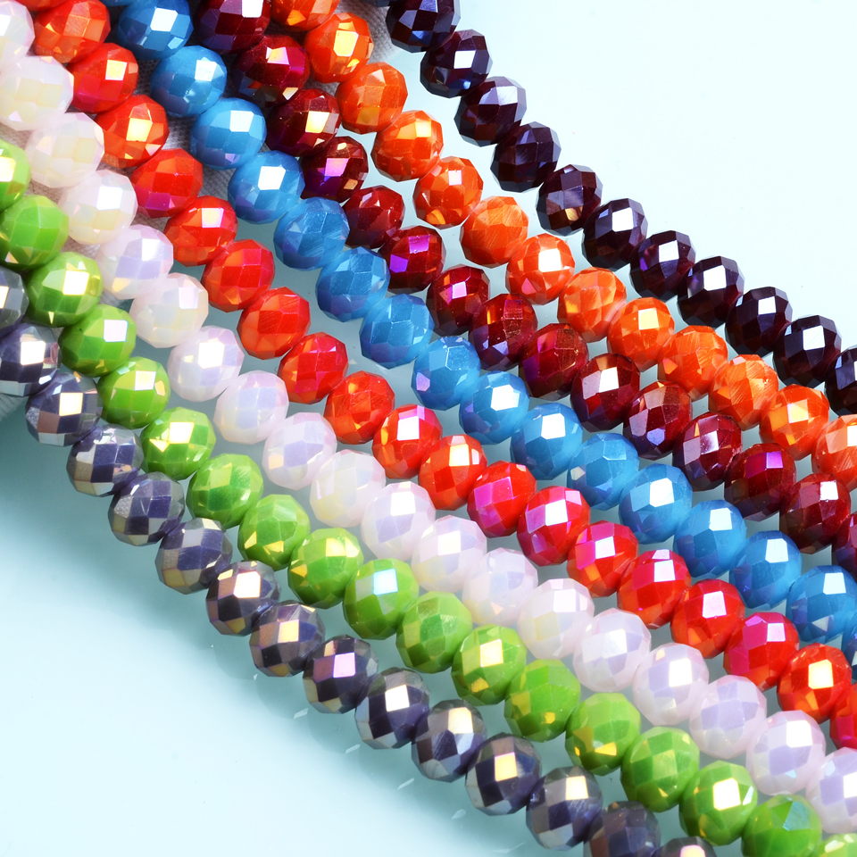 "Glass Beads Mix  Assortment TEN 16/"" Strands Beads Approximately 6-22 mm"